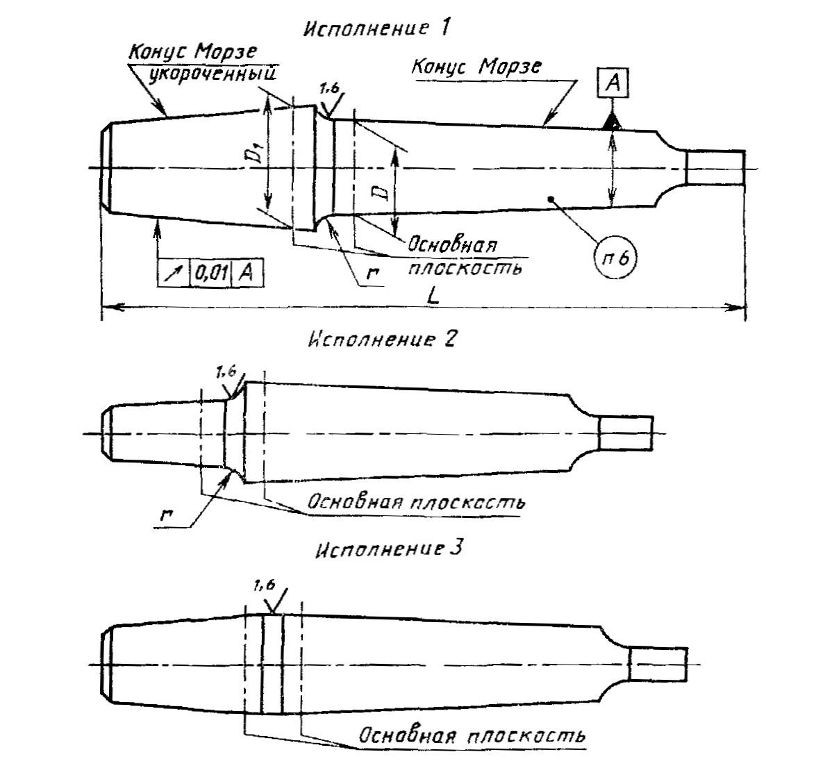 ГОСТ 2682-86 Оправки с конусом морзе для сверлильных патронов чертеж