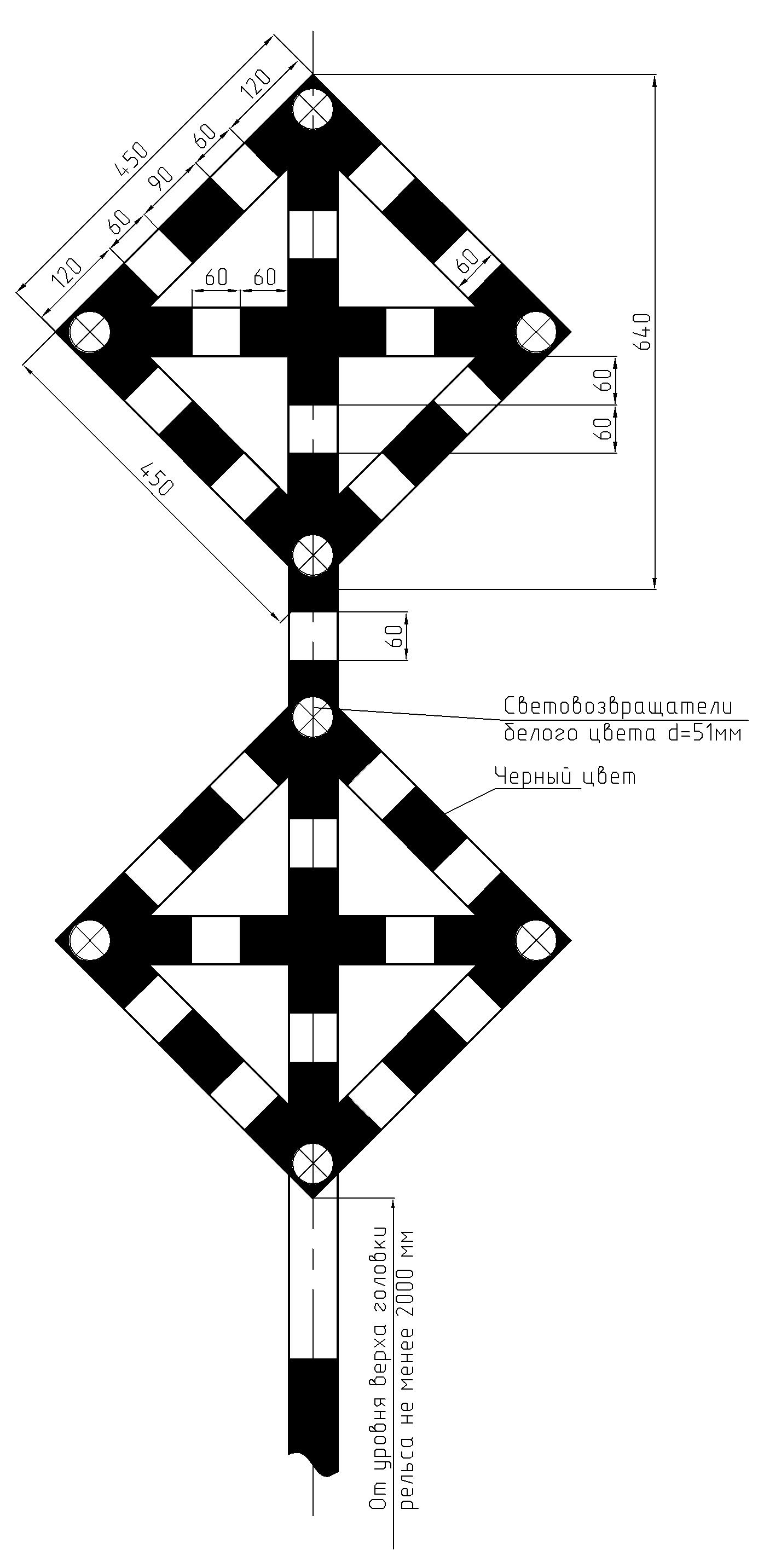 Рисунок 38. Временные сигнальные знаки «Поднять нож, закрыть крылья» при наличии одного препятствия при наличии двух препятствий, между которыми невозможна работа снегоочистителя
