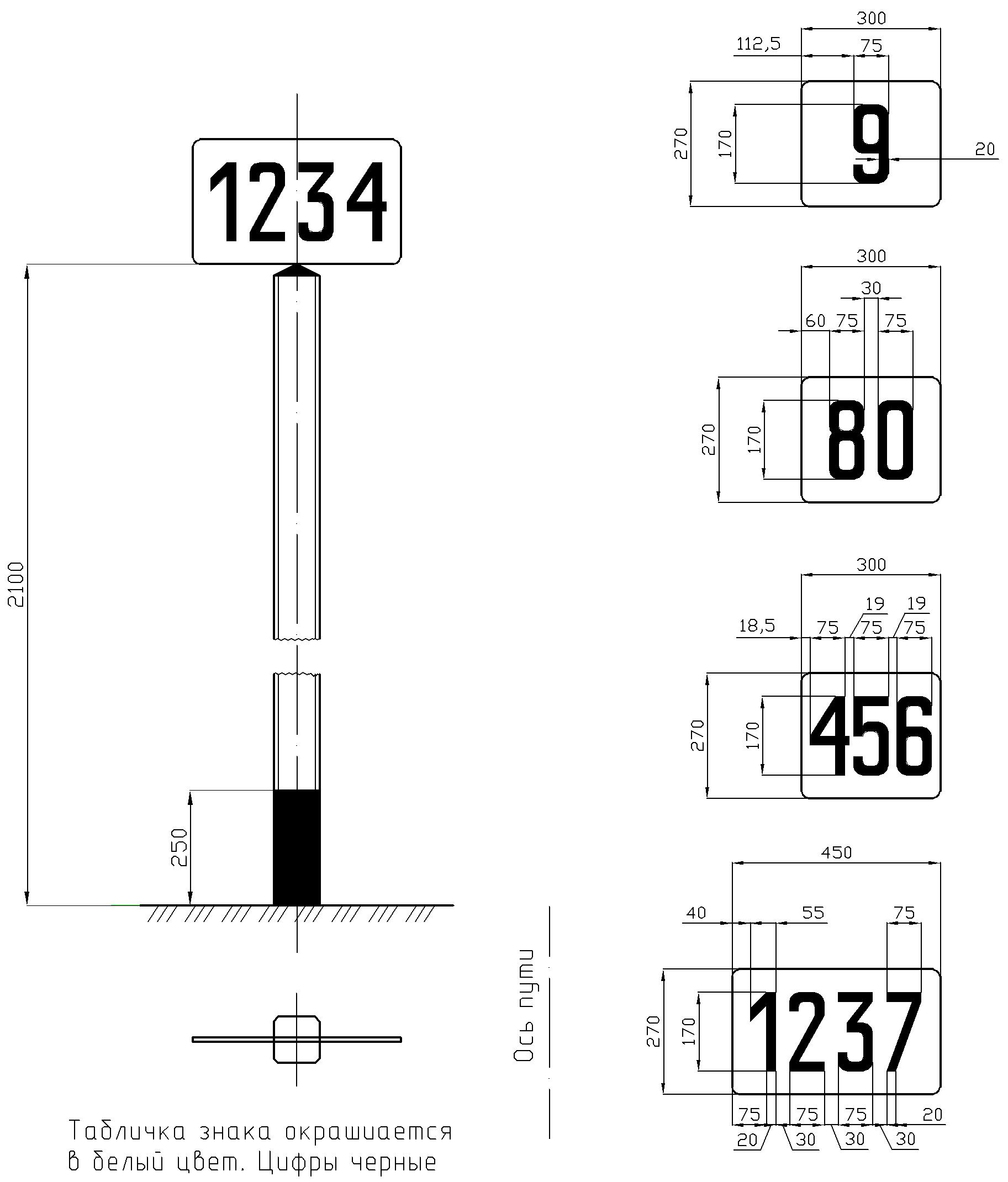 Рисунок 41. Путевой километровый знак