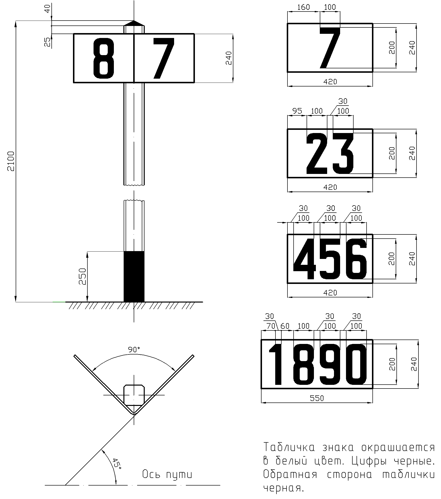 Рисунок 42. Путевой километровый знак (местный)