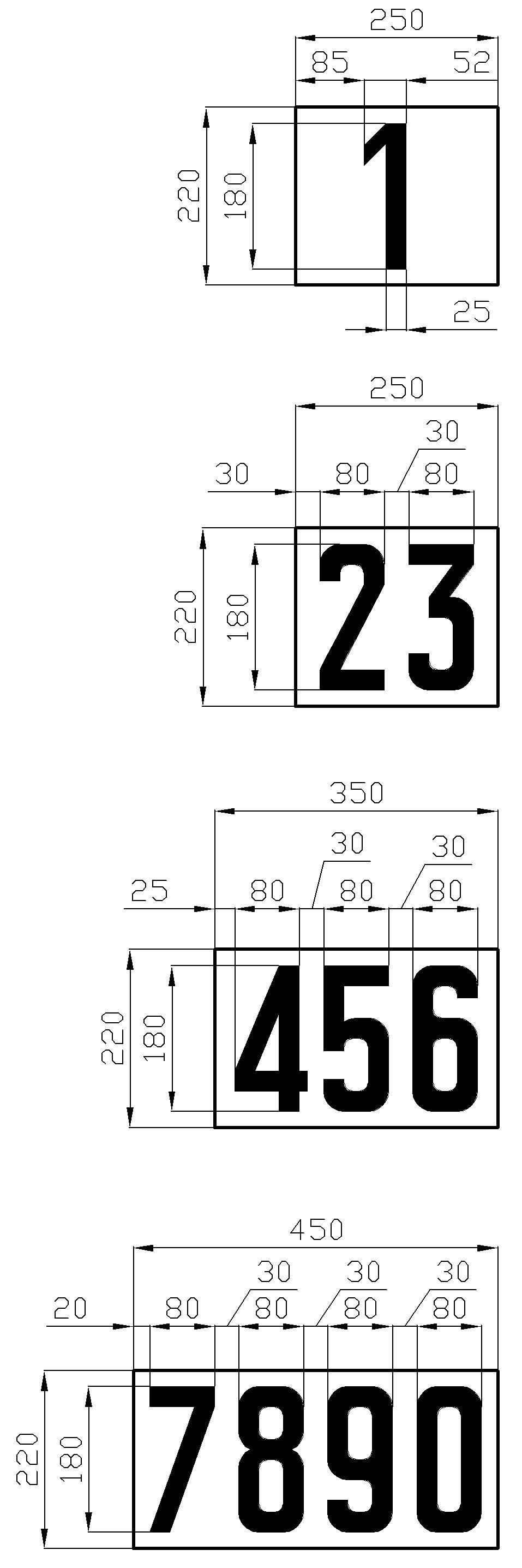 Рисунок 43. Вариант изготовления табличек путевых километровых знаков