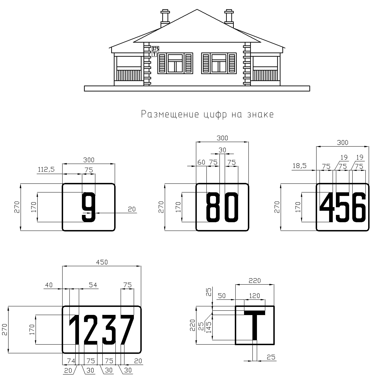 Рисунок 53. Путевые особые знаки на линейных путевых зданиях