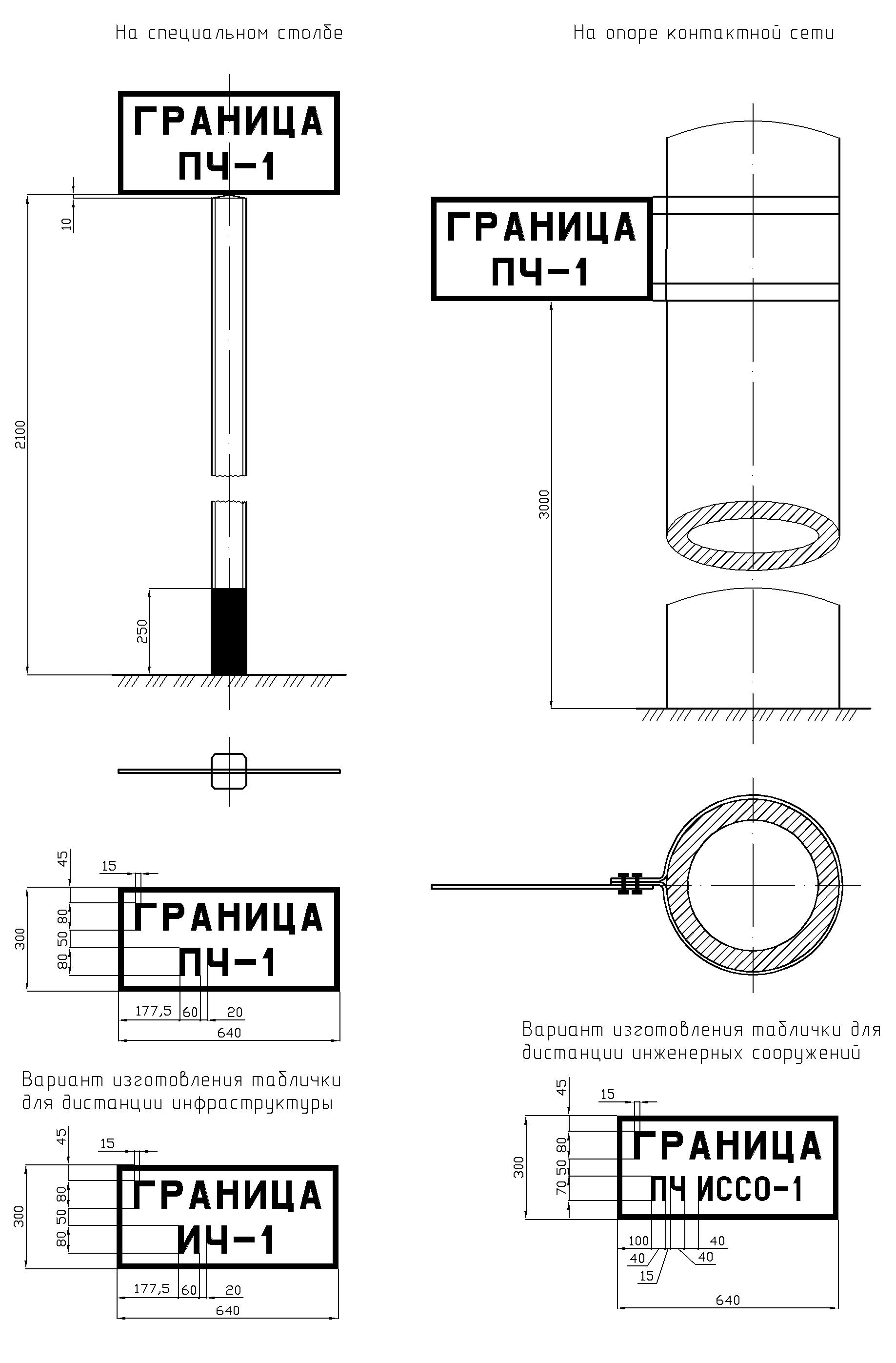 Рисунок 57. Путевой особый знак границы дистанции