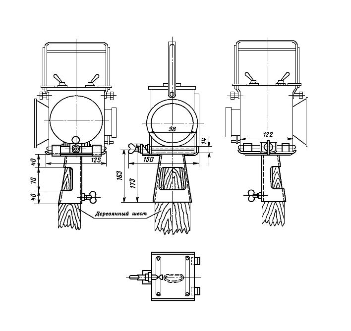 Рисунок 77. Кронштейн сигнального фонаря (вариант I)