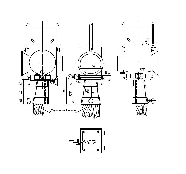 Рисунок 78. Кронштейн сигнального фонаря (вариант II)